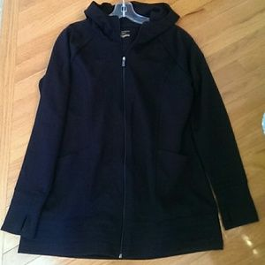 Long hooded active jacket